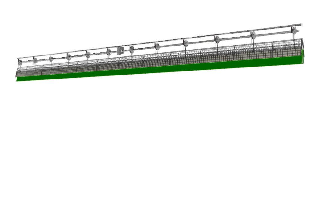 Системы разделения спортивного зала с комбинированным двойным полотном ПВХ