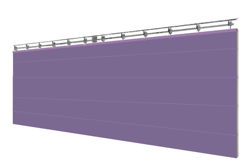 Системы разделения спортивного зала с двойным полотном ПВХ