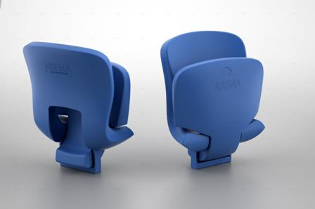 """Антивандальное спортивное пластиковое кресло """"Арена-2"""""""